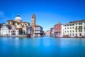 Venice grand canal, San Geremia church landmark. Italy — Stock Photo