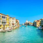 Venice grand canal, Santa Maria della Salute church landmark. Italy — Stock Photo