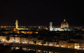 Florence night aerial cityscape. Panorama view from Michelangelo park — Stock Photo