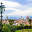 Постер, плакат: Florence aerial cityscape Panorama view from Michelangelo park