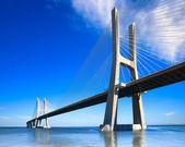 Vasco da Gama bridge, Lisbon, Portugal, Europe. — Stock Photo