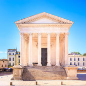 La Maison Carree roman temple landmark. Nimes, France. — Stock Photo