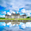 Chateau de Chambord, Unesco medieval french castle and reflection. Loire, France — Stock Photo #32721809