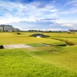 Golf St Andrews old course links. Bridge hole 18. Scotland. — Stock Photo #32920601