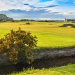 Golf St Andrews old course links. Bridge hole 18. Scotland. — Stock Photo #33247163