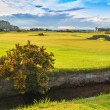 Golf St Andrews old course links. Bridge hole 18. Scotland. — Stock Photo