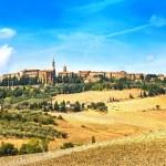 Tuscany, Pienza medieval village. Siena, Val d Orcia, Italy — Stock Photo #33459801