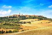 Tuscany, Pienza medieval village. Siena, Val d Orcia, Italy — Stock Photo