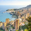 Monaco Montecarlo principality aerial view. Azure coast. France — Stock Photo