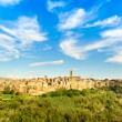 Stock Photo: Tuscany, Pitigliano medieval village panoramlandscape. Italy