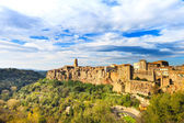 Tuscany, Pitigliano medieval village panorama landscape. Italy — Stock Photo
