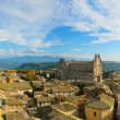 Orvieto medieval town and Duomo cathedral church aerial view. Italy — Stock Photo