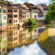 Strasbourg, water canal in Petite France area, Unesco site. Alsace. — Photo