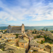 Orvieto medieval town and Duomo cathedral church aerial view. It — Stock Photo