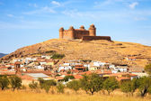 Castle on hill, Castillo de La Calahorra and village, Granada, A — Stock Photo