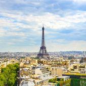Eiffel Tower landmark, view from Arc de Triomphe. Paris, France. — Stock Photo
