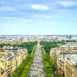 Stock Photo: Paris, panoramic aerial view of Champs Elysees. France