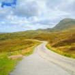 Highlands of Scotland narrow road landscape, Uk — Stock Photo #40107135