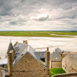 Mont Saint Michel monastery and bay. Normandy, France. — Stock Photo