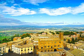Orvieto medieval town aerial view. Italy — Stock Photo