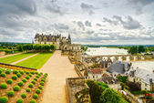 Amboise, medieval castle, river and bridge. Loire Valley, France — Stock Photo
