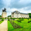 Chateau de Chenonceau Unesco medieval french castle and garden. — Stock Photo #42882787