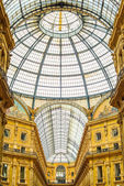 Milan, Vittorio Emanuele II urban gallery, Italian architecture. — Stock Photo
