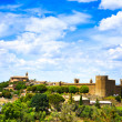 Tuscany, Montalcino medieval village, fortress and church. Siena — Stock Photo