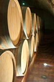 Wine barrel in a cellar — Stockfoto