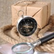 Compass and mail box — Stock Photo