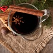 Christmas mulled wine — Stock Photo
