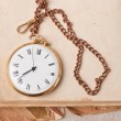 Old pocket watch on vintage paper — Stock Photo #22707663