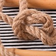 Node from the rope — Stock Photo