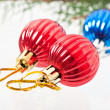Christmas decoration on abstract background — Stock Photo #33921363