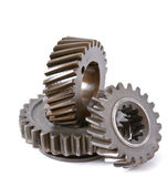 Differential gears isolated on white background — Zdjęcie stockowe