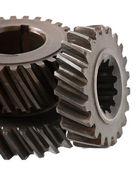 Differential gears isolated on white background — ストック写真