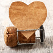 Stockfoto: Valentine and wine stopper