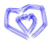Two abstract hearts — Stock Photo