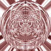 Abstract magical fractal sphere — Stock Photo