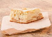 Fresh slice of apple pie — Stock Photo