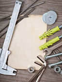 Paper and metalwork tools — Stock Photo