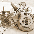Mechanical clock gears — Stock Photo #51534329