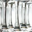 Wine glasses upside down - Stock Photo