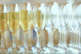 Champagne in glasses — Stock Photo