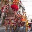 Traditional sicilian horse-cart — Stock Photo