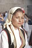 Beautiful woman of Bosnia folk group — Stock Photo
