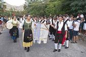 Folk group from sicily — Stock Photo