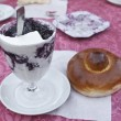 Sicilian granita and brioche — Stock Photo