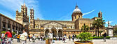 Palermo Cathedral photomerge — Stock Photo