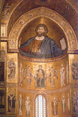 Cathedral of Monreale. Golden Mosaics. Sicily — Stock Photo